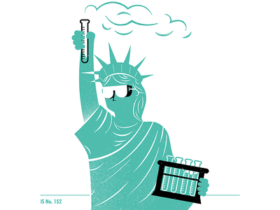 Illustrated Science 152 statue of liberty philadelphia illustrated science texture science editorial illustration editorial illustration