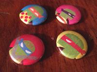 Minimal TMNT buttons