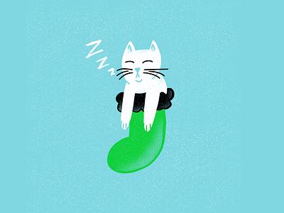 12 days of Cat-mas -02 christmas holidays cat editorial illustration editorial illustration