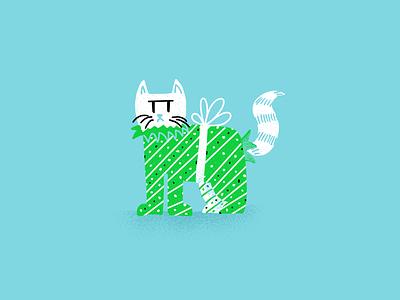 12 days of Cat-mas -03 cats christmas holiday editorial illustration editorial illustration