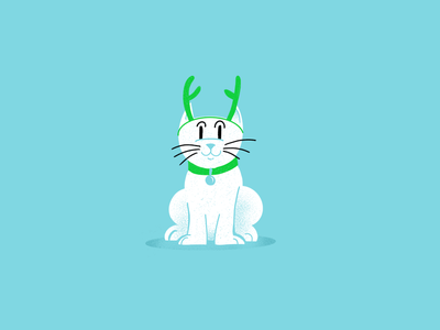 12 days of Cat-mas -05 christmas holiday cats editorial illustration editorial illustration