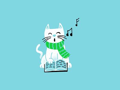 12 days of Cat-mas -06 christmas holiday cats editorial illustration editorial illustration