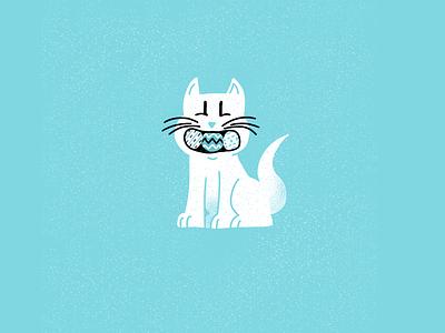 12 days of Cat-mas -08 christmas holiday cats editorial illustration editorial illustration