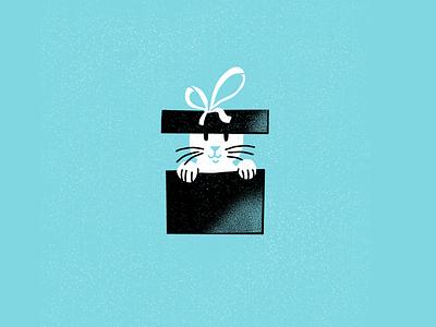 12 days of Cat-mas -09 holidays christmas cats editorial illustration editorial illustration