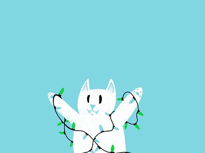12 days of Cat-mas - 11 holidays christmas cats editorial illustration editorial illustration