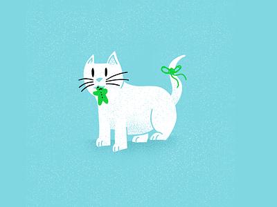 12 days of Cat-mas - 12 christmas holidays cats editorial illustration editorial illustration