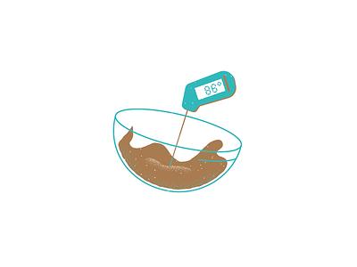 FEAST December 2019 - How to Temper Chocolate - 04 feast mag chocolate food magazine illustration magazine texture editorial illustration editorial illustration