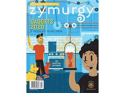 Zymurgy - January/February 2020 Cover homebrew beer magazine illustration magazine texture editorial illustration editorial illustration