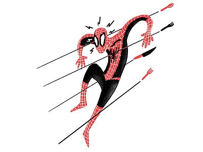 Get Out Of My Kitchen Spider-Man cooking marvel spiderman spider-man sketchbook procreate editorial illustration editorial illustration