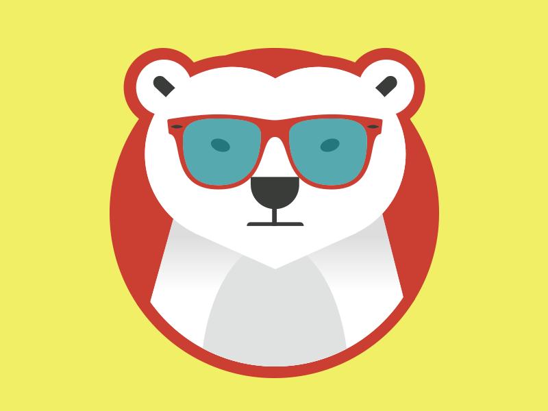 Solar Bear shades polar bear