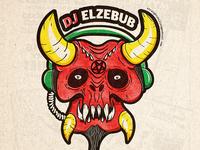 Dj Elzebub Illustration WIP 2