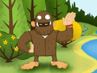 Bigfoot costume digital illustration illustration bigfoot conspiracy