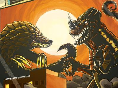 Kaiju Commission digital illustration illustration kaiju