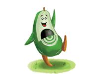 Avocado-Kid Illustration