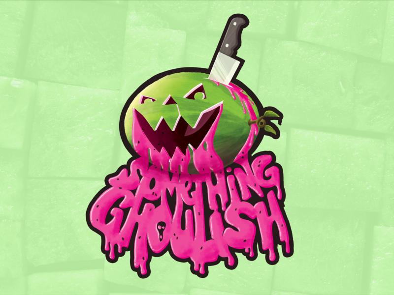 Something Ghoulish - Watermelon Illustration digital illustration illustration ghoulish something ghoulish halloween jackolantern jack-o-lantern melon summer watermelon