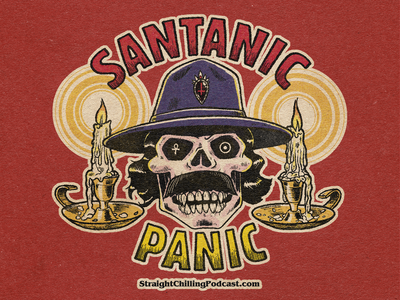 Santanic Panic! candles skull illustration guitar occult