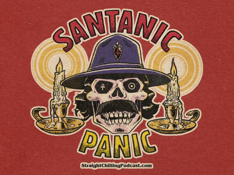 Santanic Panic! candles skull illustration guitar occult