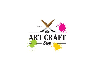 The art shop by rosa adi pratama dribbble for Arts and crafts logo