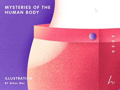 Poster Design - Mysteries of the human body branding life girls lifestyle woman sketch poster illustration design art