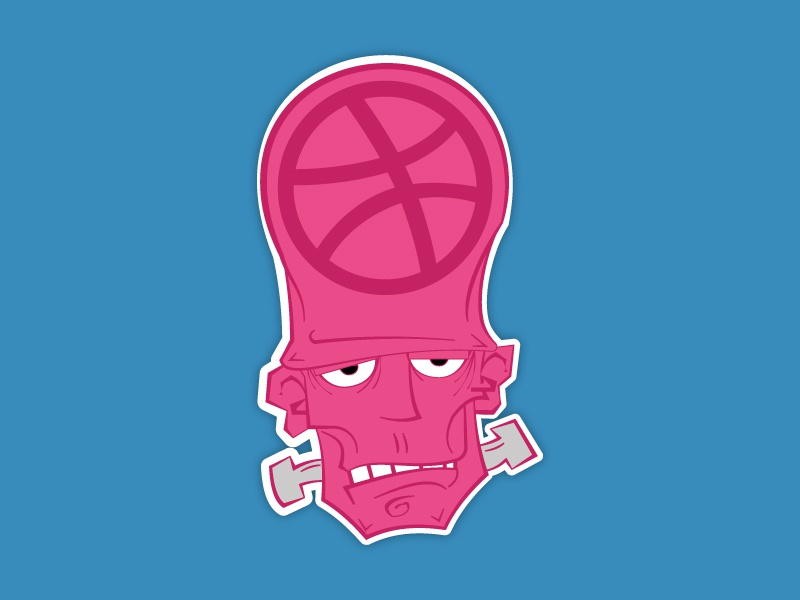 Sticker vector sticker playoff illustration icon dribbble design