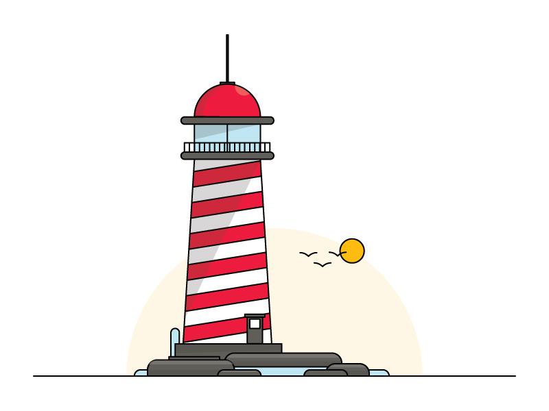 Lighthouse illustration studio lighthouse