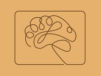 Line Art - Brain