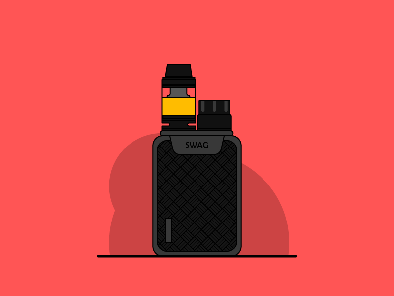 Vaporesso Swag kit vector vape smoke simple minimal illustration icon flat daily clean
