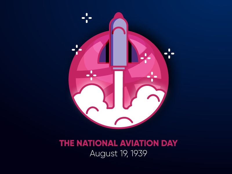 The National Aviation Day adobeillustrator logo hello dribble dribbble designeryogesh flat design vector design illustration