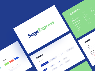Sage Express - Style Guide arounda web design product styleguide guide guidelines library ui components ui elements ui kit visual color palette design system typography button