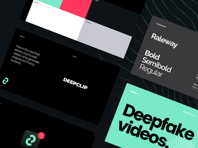 DeepClip - Guidelines arounda mobile product app icon entertainment pattern library ui components ui kit visual color logo design system typography guidelines