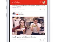 UX Prototype Challenge #1 - Youtube Mobile Homepage
