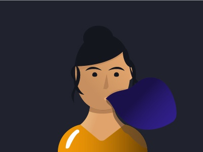 Vibes. daydreaming vector conceptual malaysia personality energy bubble girl