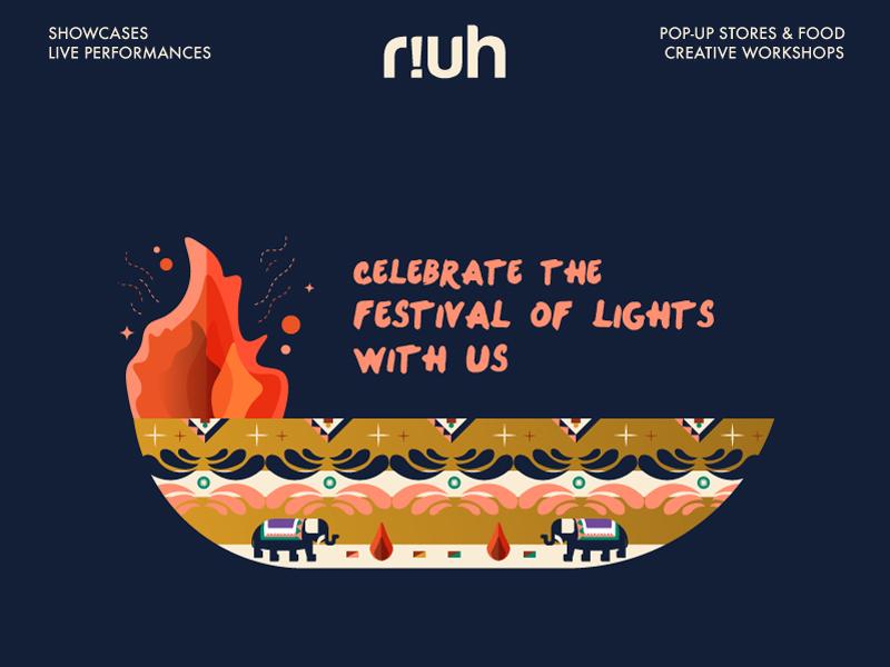 Deepavali RIUH Event Poster creative tradisional bangsar malaysia diversity culture diwali deepavali poster art event