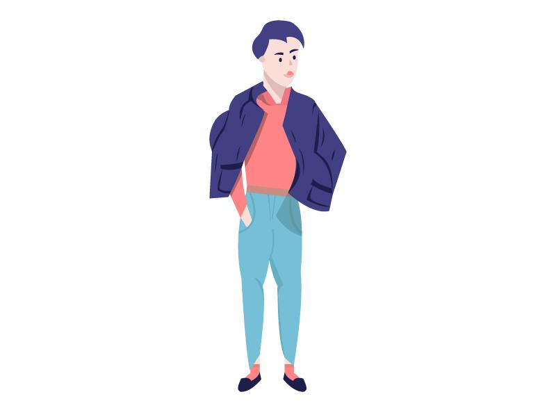 Idle Pose style proud fashion jeans pants jacket boy