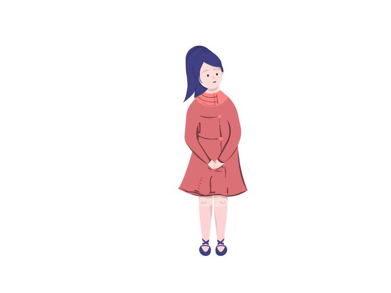Idle Pose #2 illustration idle waiting winter coat fashion girl