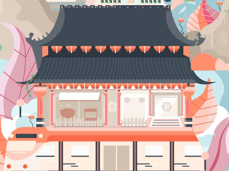 Taiwan shot #1 train temple tourist map illustration travel hua lien taipei taiwan