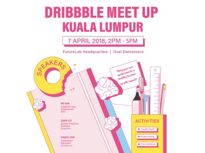 Meet Up KL 2018 workspace vibrant posters creatives community kuala lumpur malaysia dribbble meet up