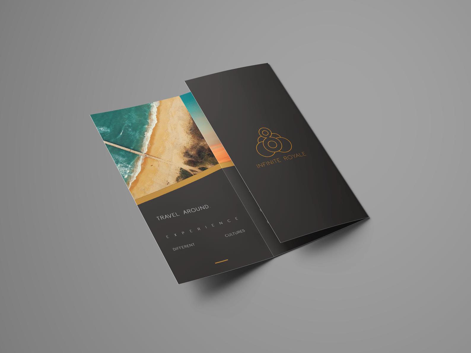 Infinite Royale l Mockup Brochure simple brochure mockup brochure