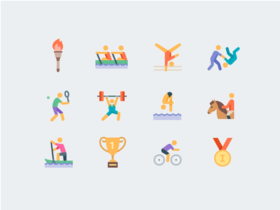 Olympic Sports rio medal olympic games olympic sport flat icons icons icon