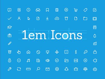 1em Icons