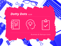 Business Icons in Dotty Dots Style