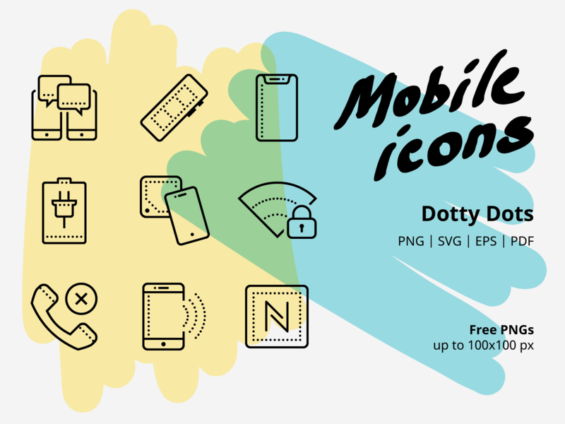 Mobile icons design tools ux ui graphic design free dots call job work technic business phone mobile line icons vector icons icons icon