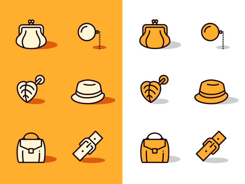 Accessories design tools ux ui graphic design yellow look shopping shop clothes color icons line icons vector icons icons icon