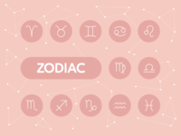 Zodiac pink astrology zodiac design tools ux ui line icons graphic design vector icons icons icon