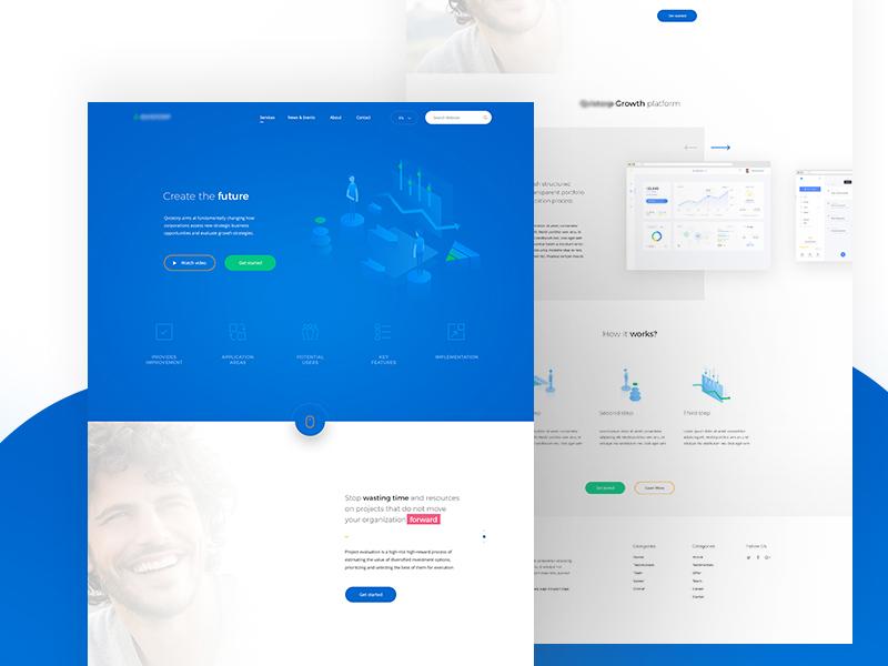 Landing Product Page product design landing illustration