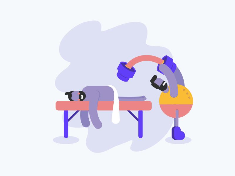Illustration hard massage people illustration character avatar