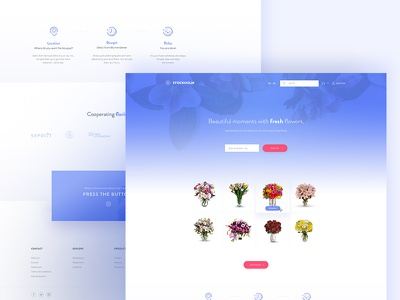 Landing Product Page fresh flowers flower product design landing