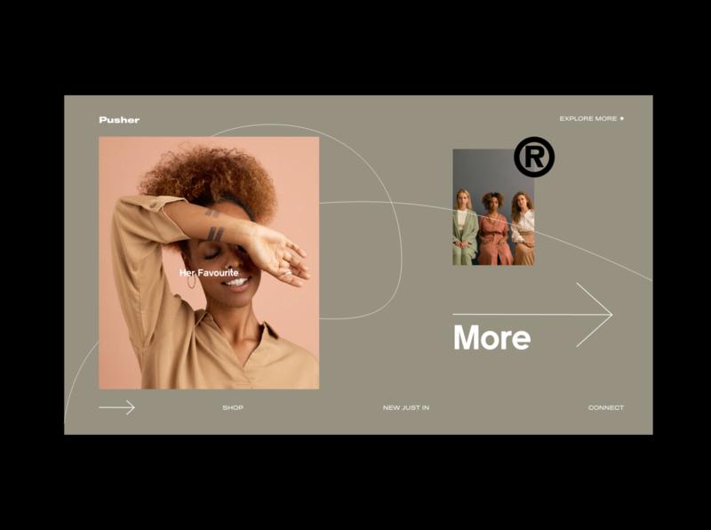 Pusher modern website typogaphy branding web design design clean web ui ux
