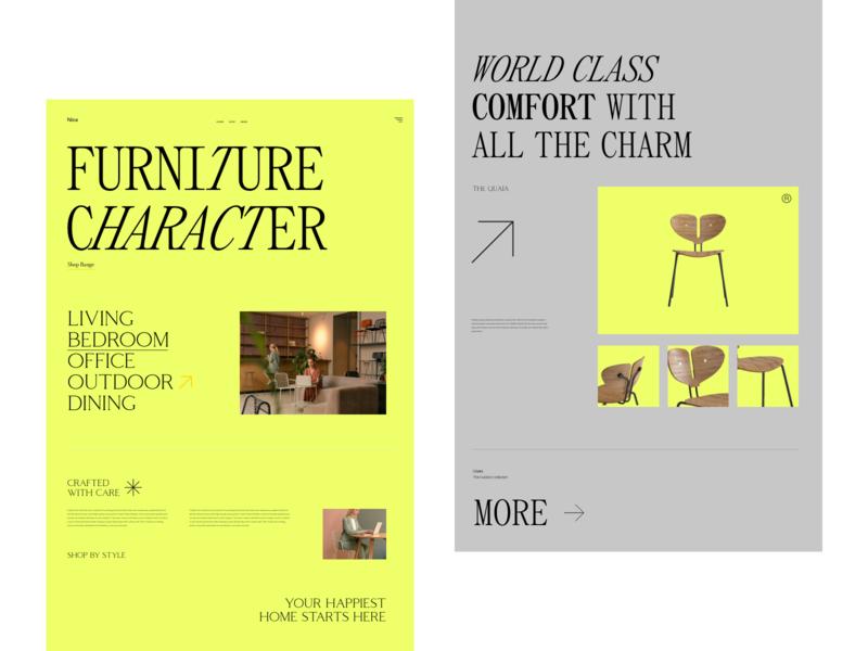 Nice modern typogaphy branding website design clean web design web ux ui