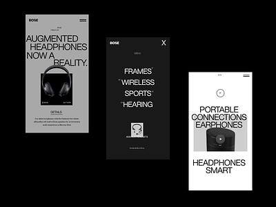 BOSE modern typogaphy website web design branding web design ux clean ui